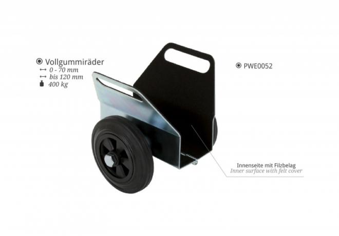 PWE0052 Plattenklemmwagen Vollgummiräder