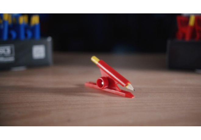 IQ-Display mit Parallelanreißer rot & Zirkelspitze, Inhalt = 30 Stück