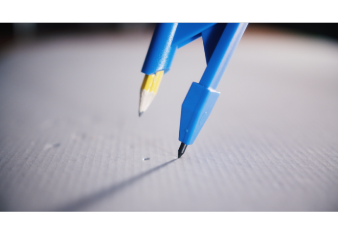 IQ-Parallelanreißer mit Zirkelspitze blau