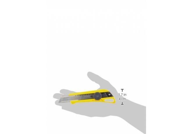 Cuttermesser 18mm, gelb inkl. 3 Klingen und Feststellschraube