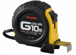 Bandmaß 10m/25mm gelb, G-LOCK mit Elastomer armiertes Gehäuse