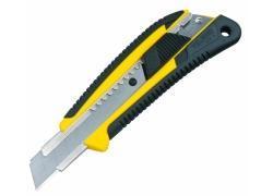GRI Cuttermesser 18mm, gelb mit Elastomergriff und Feststelltaste