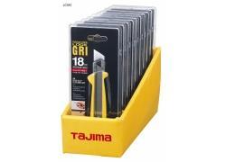 GRI Cuttermesser 18mm, gelb mit Elastomergriff und Feststellschraube