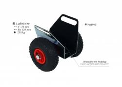 Plattenklemmwagen mit Lufträdern