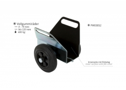 Plattenklemmwagen mit Vollgummirädern
